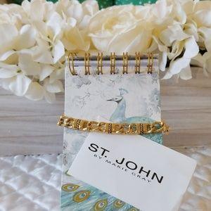 St.John Collection Goldtone Choker Necklace